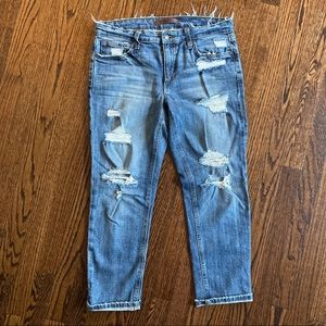 "Joe's Jeans Distressed Slim Crop ""Gessa"" size 27"